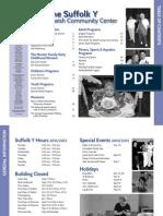 Suffolk Y JCC Fall 2011/ Winter 2012 Program Guide