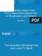 The Potential Impact of the FCC's National Broadband Plan on Broadcasters and Viewers
