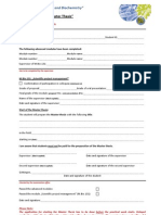 Application for Master Thesis MB
