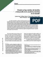 FM Donde No Hay Medico de Familia OPS 1996
