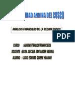 Analisis Financiero en La Region Cusco[1]