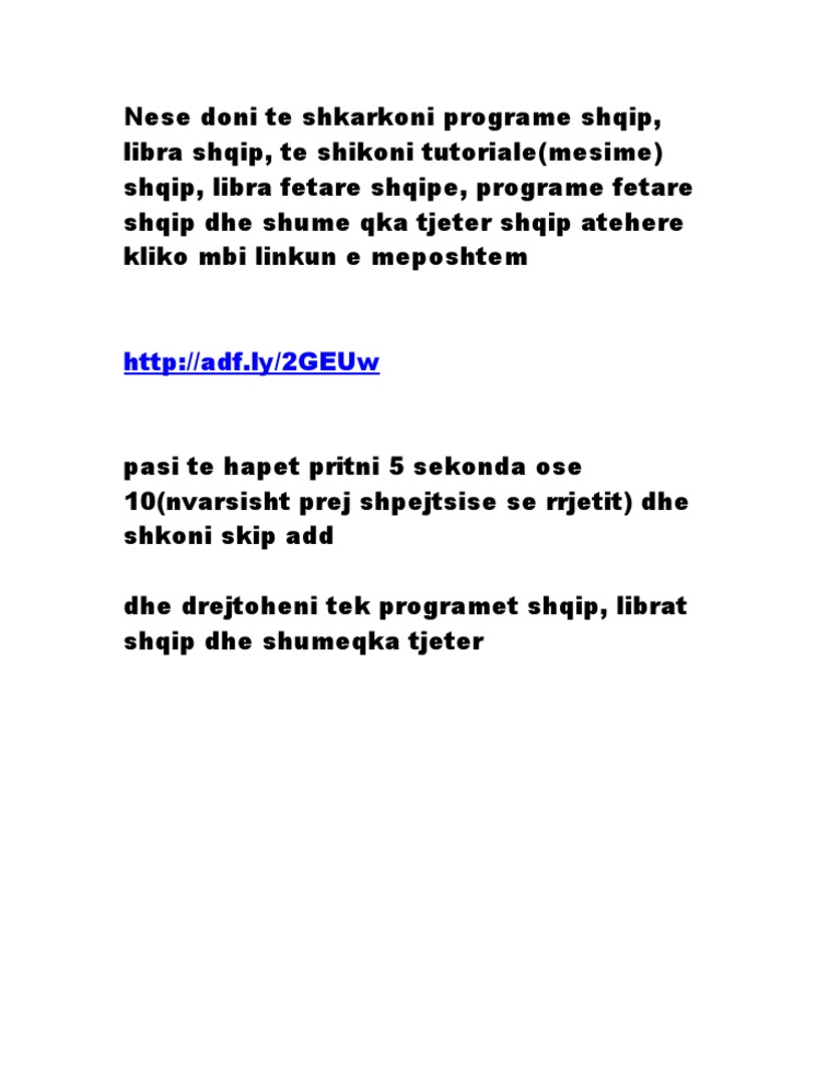 Programe Shqip, Libra Shqip, Tutoriale Shqip, Libra Fetar