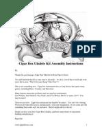 Cigar Box Uke Kit Assem Instructions