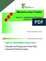 Instalações de Recalque - mecanica dos fluidos
