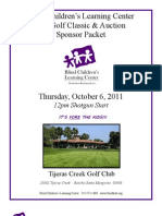2011 Fall Classic Sponsor Packet