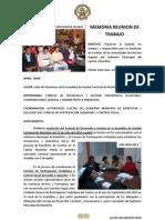 20110629 Memoria Acuerdos Rendición de Cuentas en Montúfar y Participantes
