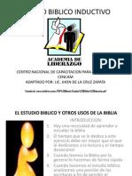 ESTUDIO BIBLICO INDUCTIVO