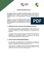 Agenda Descentralista 27 de Julio