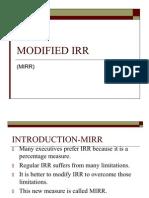 Acb III Modified Irr (Mirr)