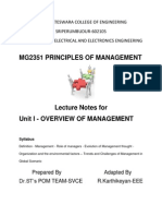 MG2351 POM Unit 1 Lecture Notes