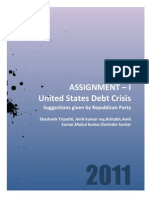 Usa Debt Crisis Republicans View