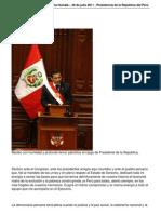 Discurso de Ollanta Humala 28-de julio 2011