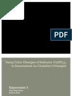 Expt 3 - Le Chatelier's Principle