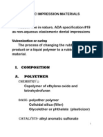 Impression Materials PPT | Cross Link | Polymers