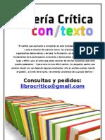 Librería Crítica CON/TEXTO