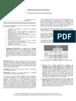 En este capítulo se orientara principalmente a la presentación de las guías para leer artículos que describen pruebas diagnósticas