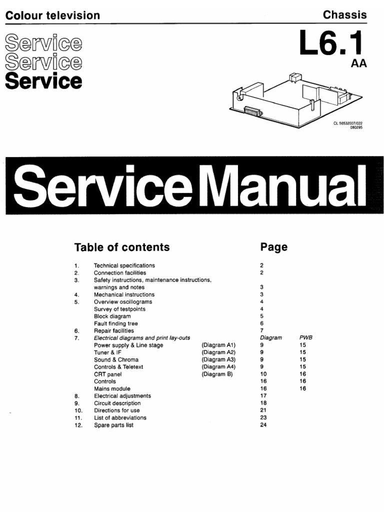 Philips Tv Ch l6.1 Aa Service Manual