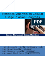 Statistical Analysis on Cellular Usage in Asian Countries