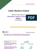 Distribution Managemen & Logistics T-Module I