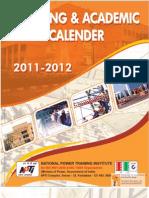 Training Calander 2011-12
