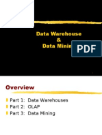data warehouse,olap and data mining
