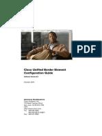 Cisco Unified Border Element Configuration Guide