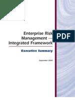 Coso's ERM executive summary