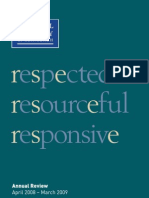 Annual Review April 2008 – March 2009