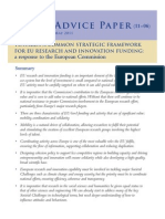 AD11_06 Towards a Common Strategic Framework for EU Research and Innovation Funding: