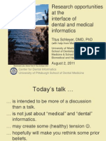Research opportunities at the interface of dental and medical informatics