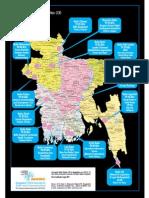 MAP of Community Radio in Bangladesh by Bangladesh NGOs Network for Radio and Communication(BNNRC)