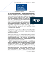 Press Release - RSE@Dumfries Galloway - Public Talk Programme - Autumn 2010