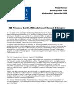 RSE Announces Over £4.4 Million to Support Research & Enterprise