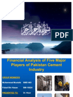 58586135 Financial Analysis of Top Cement Companies
