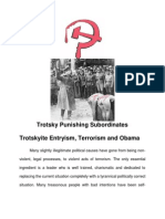 Trotskyite Entryism Terrorism and Obama