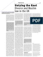 ISIM 7 Untying the Knot Divorce and Muslim Law in the UK