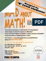 MAD About Math - O Level Seminar