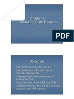 Functions of GPRS Elements