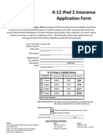 Burlington Public Schools, iPad Application Form 2011 - 2012
