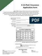 Burlington Public Schools, iPad Application Form 2011 - 2012