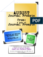 Journal Prompts - Writing Prompts for August