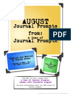 th Grade Writing Prompts PDF   Language Arts Printables