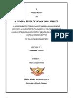 Shekhar Final Project Report on Share Market