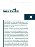Impact Fees and Housing Affordability Impact Fees and Housing