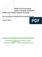 Green Action Evaluation of Oneida Pyrolysis Garbage Plant Proposal March 7, 2011 Final