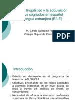 Corpus lingüístico y la adquisición de falsos cognados