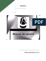 Manual de Usuario Reportes