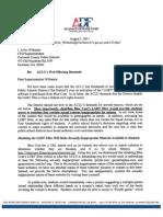 Alliance Defense Fund Letter to Gwinnett County Schools