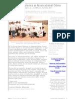 Sexual Violence as International Crime Summer Newsletter