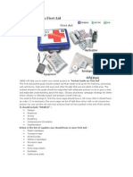 Pocket Guide on First Aid